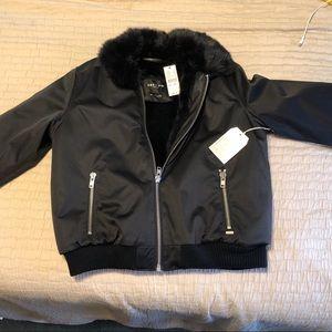 Black bomber jacket NWT